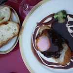 洋風家庭料理 ふらいぱん - デミグラスハンバーグ(セット3500円)