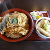 八幡庵 - 料理写真:天丼\1300 なぜかうどんが付いてきます