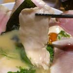 麺と心 7 - W白湯セブンチャーシュー 鶏もものレアチャーシュー