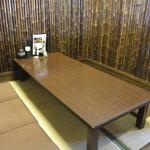 竹林亭 - お店はテーブル席と小上がりのお座敷に分かれて幅広い客層に対応出来るようになってました。