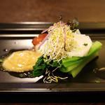 フォルトゥーナ - 【ディナー】山菜うるいと蛸のバーニャカウダのソース添え