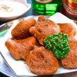 タージ ベンガル - チキンパコラ   チキンのインド天ぷら スパイスで味付けされたチキンがはいっているよ