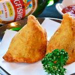 タージ ベンガル - サモサ  カレー味のポテトんp包み揚げ インドのおやつ