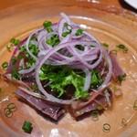 マーケットレストランAGIO 柏店 - 藁焼きカツオのカルパッチョ