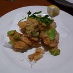 マーケットレストランAGIO 柏店 - 富山県岩瀬漁港産白えびと空豆のフリット パルメザン風味