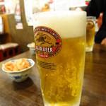 焼き物コロシアム煙神 - キリンラガービール480円