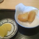 19088465 - たくあん  サツマイモの煮物