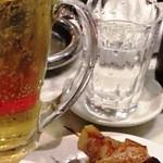てっちゃん - 2013/05/2X ホッピー&金宮焼酎、グラスじゃホッピーは美味くない。