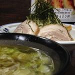 佐野ラーメン 飛龍 - つけめん(アブラ多め) チューハイ濃い目 2013年5月