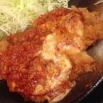 チキン亭 - トマトとチーズのせささみカツ