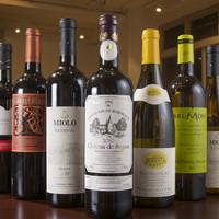 ワインはヨーロッパから南米など幅広くご用意しております!