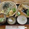 観音茶屋 - 料理写真:山菜てんぷらそばと鬼ころり(1,600円)