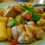 富貴楼 - 鶏とヤングコーンの炒め物