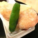 宮川本廛 - 宮川御膳 1050円 の白身魚の天ぷらとししとう