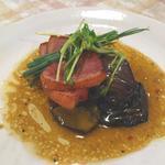 白胡麻屋 - 茄子と合鴨の炙り焼き わさび風味