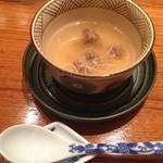 鉄板焼 濠 - 牛テールのスープ