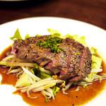 まくら木 - エゾ鹿肉のステーキ