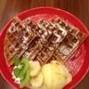 ディアリオ - 料理写真:メープルワッフルアイス添え