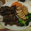 鳥正 - 料理写真:鶏肉ロールと焼き鳥、野菜、こんなのも作ってくれます