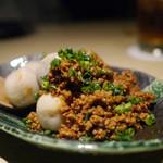 エンガワ - 【芋のあっさり煮 ピリ辛肉味噌かけ】¥600