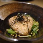 エンガワ - 【いしる醤油の焼きおにぎり茶漬け】¥650