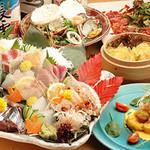 酒菜の肴 遊食家 - 料理写真:お造り盛り付き遊食家4000円コース