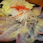 宵 - 地魚のカルパッチョ 800円