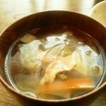 暖木 - オムライスセットのスープ