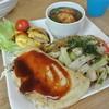 蛸のつぶやき - 料理写真:B級グルメプレート ¥600 ※お好み焼・焼きそば・豚ぺい焼・だしタコ・生野菜のプレート(TAKEOUT不可)
