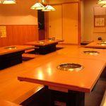 焼肉 平和 - 3階の掘りごたつお座敷。ゆったりくつろげる空間で絶品焼肉をどうぞ♪40名まで収容可能です。