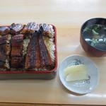 東うなぎ - うな重 超特のごはん大盛り 2600円 (2013.6)