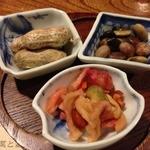 蕎麦道 武蔵野 - 前菜3種