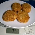 肉のホンダ - メンチカツ・コロッケ:計量図 by ももち