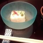 雲海 - 【初夏の会席】先附 オクラととろろ寄せ 美味出汁