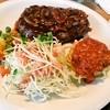 ミセス・マーコのアメリ感・アメリ館 - 料理写真:ハンバーグステーキセット