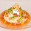 かま釜うどん - 料理写真:トマト摺りおろし、ホイップは豆乳です。