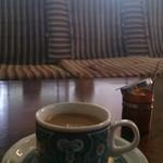 太陽ノ塔  - ランチセットのドリンク種類は豊富。カフェオレを選べる幸せ。普通に美味しい♪