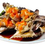 実家 - 醤油漬け渡り蟹