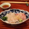 懐石 大原 - 料理写真:刺身 (鯒 と 伊佐木 と 鱚) 大葉 と 茗荷 と 山葵