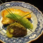 北新地 湯木 - キングサーモンの焼き物