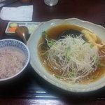 乃木坂 長寿庵 - 茄子あんかけ蕎麦