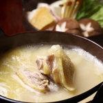 豊和 - 当店自慢 比内地鶏のコラーゲン鍋