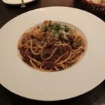ルーナ・ピエーナ - 料理写真:≪パスタ 乾麺≫ポルチーニ茸のボロネーゼ 1500円。これもタップリあります。