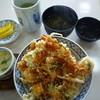えび天 おびひろ - 料理写真:天丼ランチ(天丼、味噌汁、茶碗蒸し、漬物)850円