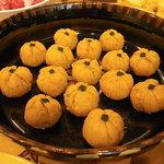 のひのひ - かぼちゃのクリームチーズ茶巾