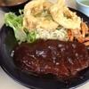 ハイライト - 料理写真:ハイライト 御薗橋店のハンバーグ定食のハンバーグ(13.06)