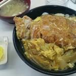 グリル 塩豚 - カツ丼(大盛)700円(^-^)