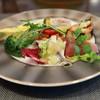 cucina italiana Partire - 料理写真:【パスタランチ】前菜 空豆のフリッタータ メジマグロのカルパッチョ 鰯のマリネ 丸茄子のオーブン焼き 豚肉のテリーヌ 焼野菜 夏野菜のカポナータ