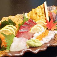 新鮮な鮮魚を使ったお料理を豊富にご用意しております♪