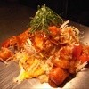 お好み焼き 五郎っぺ食堂 - 料理写真:サラダ焼き トマトANDポーク